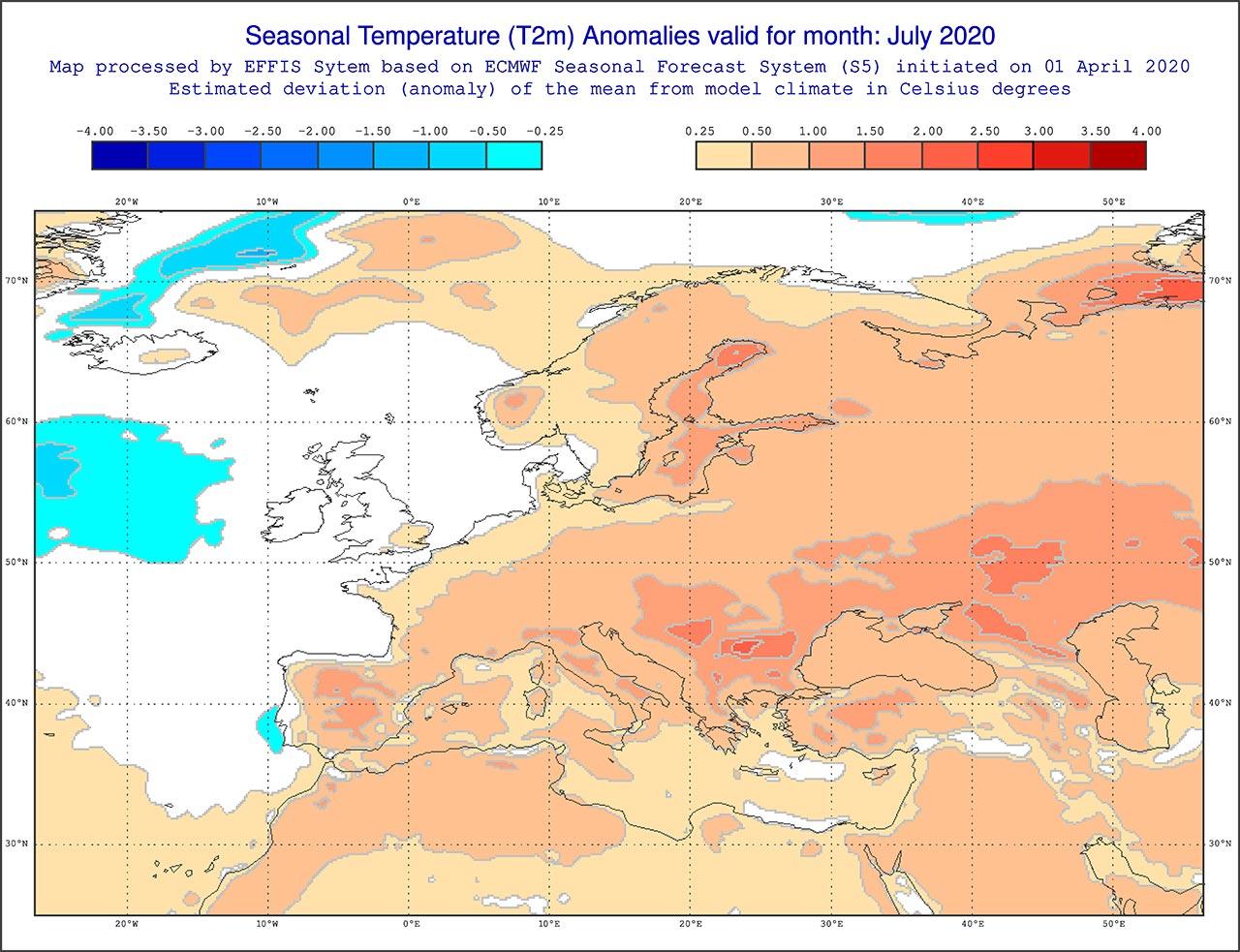 Anomalie di temperatura previste dal modello ECMWF per luglio 2020 - effis.jrc.ec.europa.eu.jpg