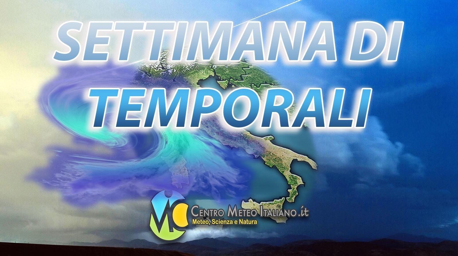 Temporali in arrivo in Italia nei prossimi giorni.