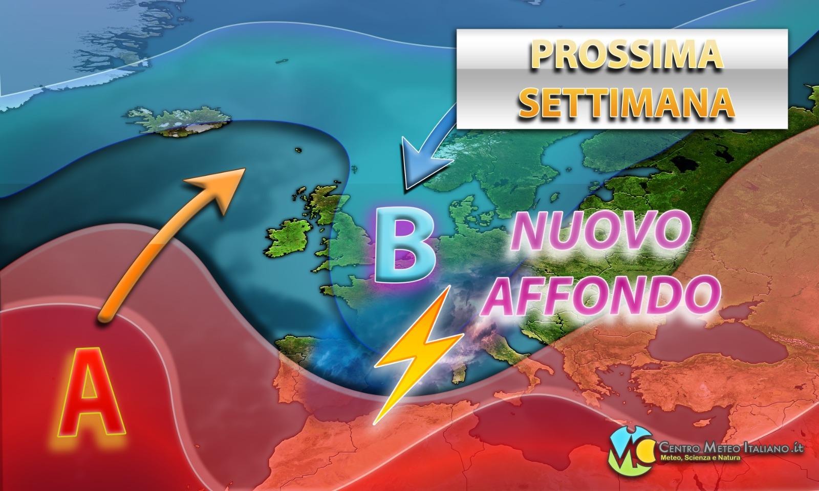 Nuovo peggioramento meteo per la prossima settimana