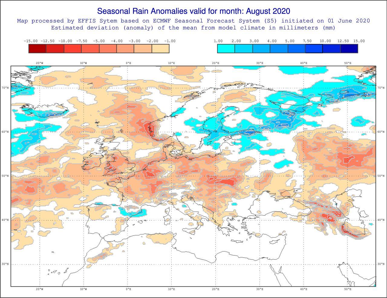 Anomalie pluviometriche Agosto 2020, fonte: effis.jrc.ec.europa.eu.