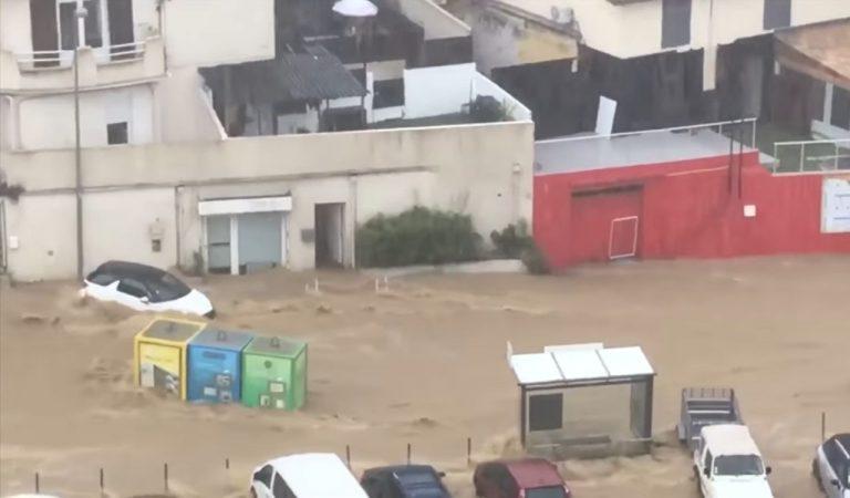 METEO – Violenti NUBIFRAGI colpiscono Ajaccio: la furia dell'acqua trascina via tutto, 200 persone messe in sicurezza, VIDEO