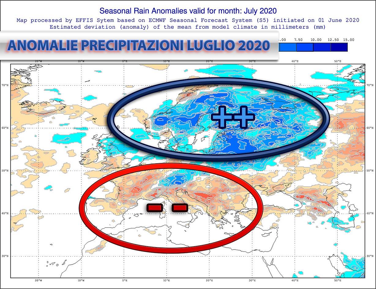 Meteo luglio 2020 - aggiornamenti su temperature e piogge in Italia