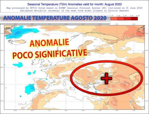 Tendenza meteo agosto 2020