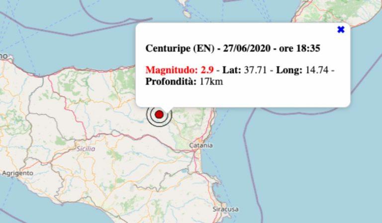Terremoto oggi in Sicilia, 27 giugno 2020: scossa M 2.9 in provincia di Enna – Dati Ingv