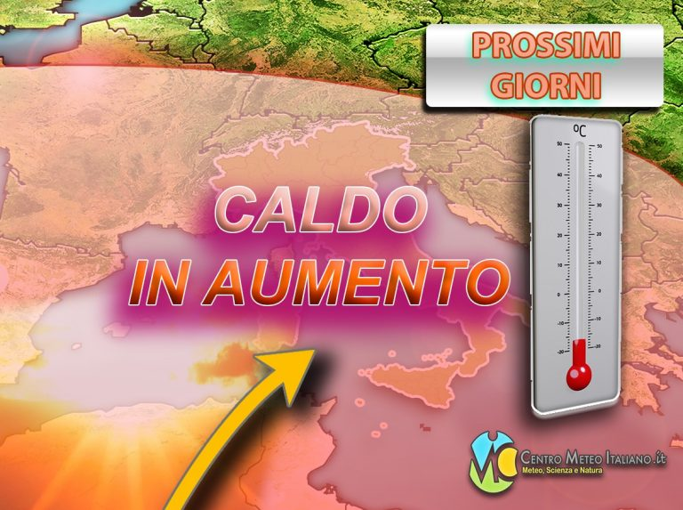 METEO ITALIA – CALDO in aumento graduale con il SUPER ANTICICLONE: picchi fin oltre i +35°C, i dettagli