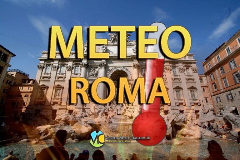 METEO ROMA – La settimana inizia con il SOLE ma soprattutto con le TEMPERATURE in calo e il CLIMA gradevole, le previsioni nei dettagli