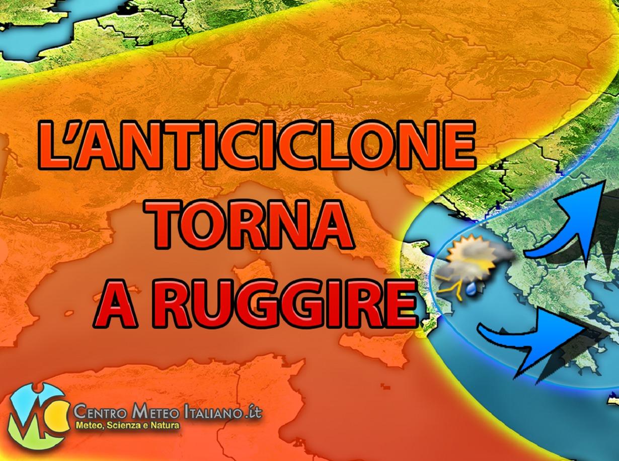 Anticiclone africano verso l'Europa, tendenza meteo