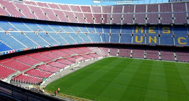 In foto il Camp Nou, stadio del Barcellona - Fonte Pixabay