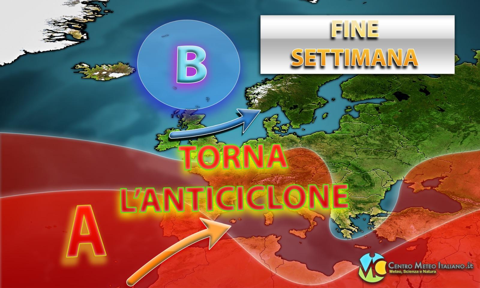 Anticiclone verso l'Italia a breve