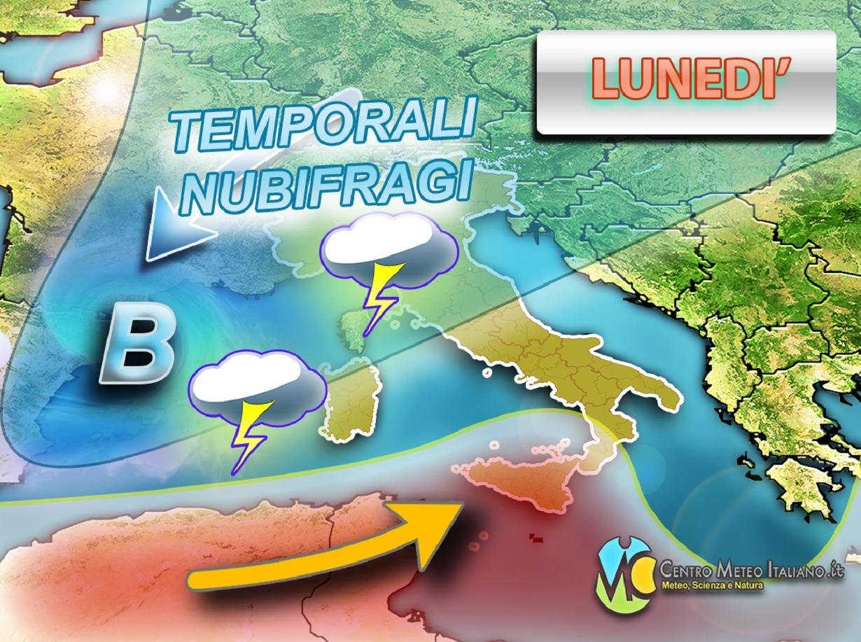 Peggioramento meteo per l'inizio della prossima settimana