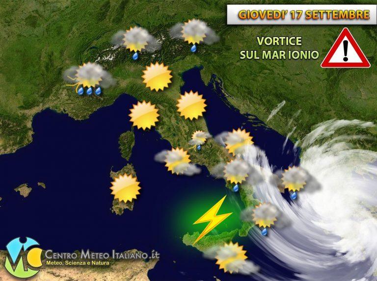 METEO ITALIA  – CALDO ANOMALO e FORTI TEMPORALI OGGI in rapido sviluppo, vediamo le zone colpite