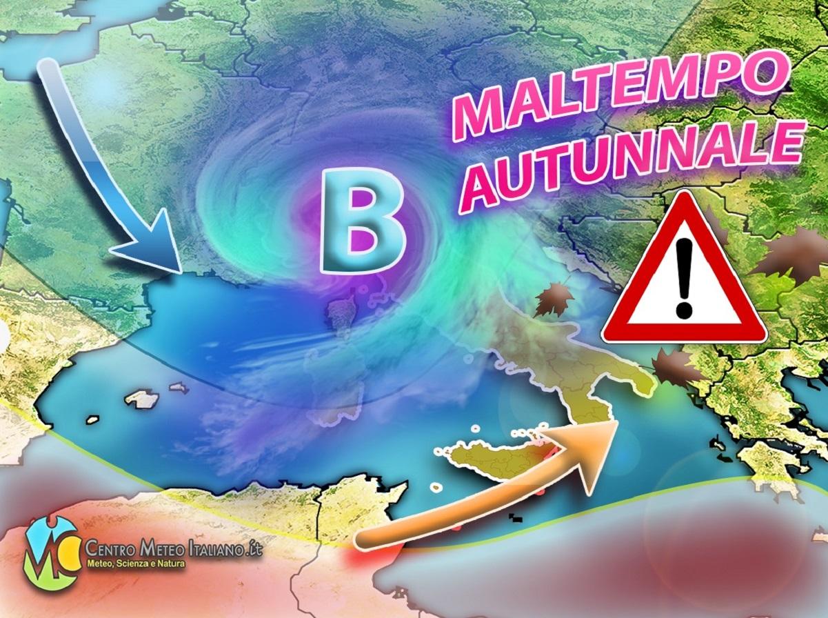 Meteo Autunno 2020: maltempo in arrivo in Italia con piogge e nevicate.