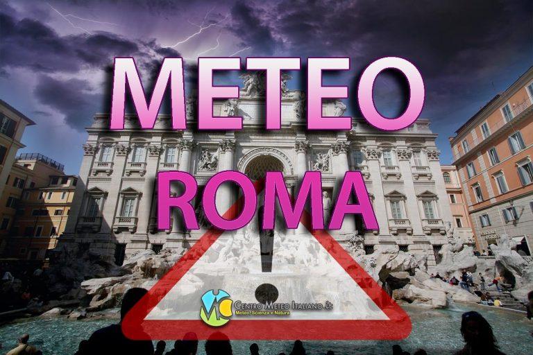 METEO ROMA – MALTEMPO in arrivo sulla Capitale nel WEEKEND; ecco le previsioni