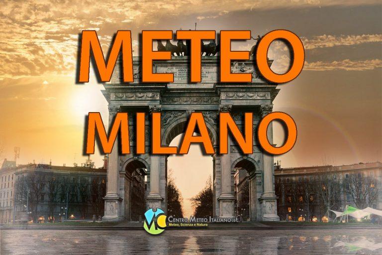 METEO MILANO – Tempo asciutto con l'ANTICICLONE, nubi irregolari in vista; ecco le previsioni