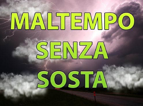 Meteo Italia: maltempo in arrivo con piogge e temporali.
