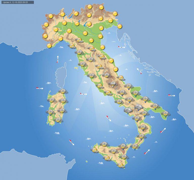 PREVISIONI METEO domani 13 Ottobre: breve pausa di bel tempo in ITALIA eccetto al meridione