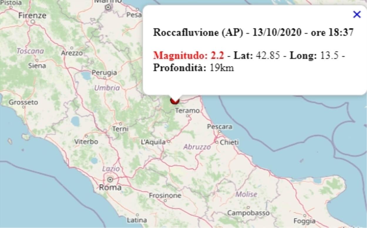 Terremoto nelle Marche oggi, 13 ottobre 2020, scossa M 2.2 ...