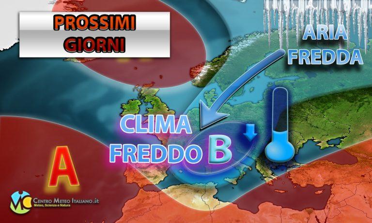 METEO – Ondata di MALTEMPO nelle prossime ore in ITALIA, poi Anticiclone prevalente e bel tempo