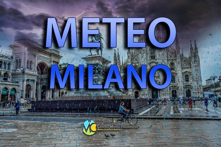 METEO MILANO: giornata uggiosa con PIOGGE in arrivo nelle prossime ore, le previsioni nei dettagli