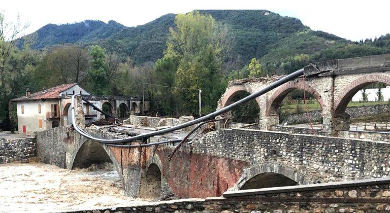 METEO – Violento MALTEMPO colpisce Frosinone e provincia: crolla un ponte, esonda un torrente e strade inagibili, ecco i dettagli