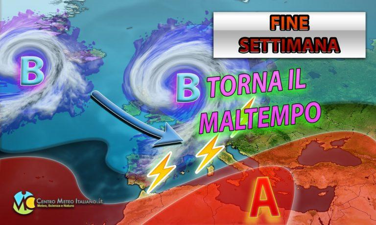 METEO ITALIA: anticiclone in arrivo con clima MITE ma subito MALTEMPO a seguire