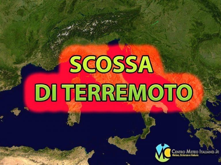 Scossa di terremoto nettamente avvertita dalla popolazione: sisma registrato dall'INGV in provincia di Enna. I dati ufficiali