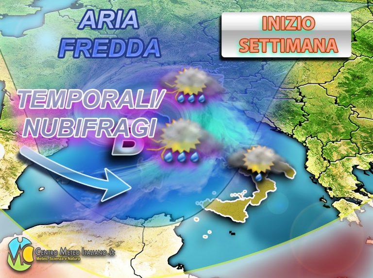 METEO – Ennesimo AFFONDO PERTURBATO: in arrivo NUBIFRAGI e TEMPORALI, torna la NEVE in montagna