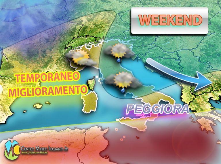 METEO ITALIA – MALTEMPO in arrivo con piogge e temporali, ecco dove