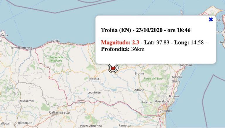 Terremoto in Sicilia oggi, venerdì 23 ottobre 2020: scossa M 2.3 in provincia di Enna | Dati INGV