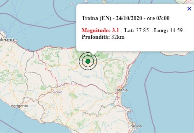 Terremoto in Sicilia oggi, sabato 24 ottobre 2020: scossa M 3.1 in provincia di Enna | Dati INGV