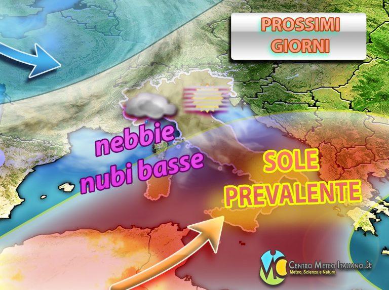 METEO: ANTICICLONE in grande rimonta sull'ITALIA con SOLE  ma anche NEBBIE, quale tendenza per NOVEMBRE?