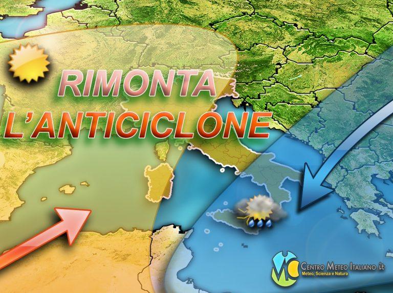 METEO: Ultimi disturbi al sud ITALIA poi ANTICICLONE in grande rimonta, previsioni per oggi e prossimi giorni