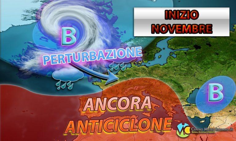 METEO – La PERTURBAZIONE abbandona l'Italia, torna l'ANTICICLONE