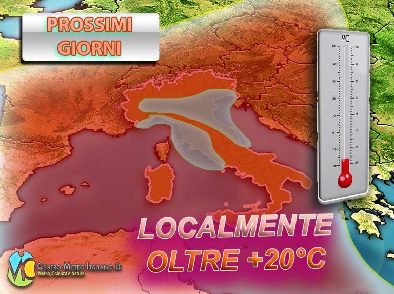 METEO – ANTICICLONE MONSTRE in arrivo in ITALIA, graduali SCHIARITE e TEMPERATURE in aumento, i dettagli