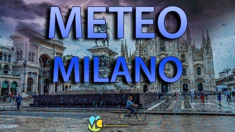 METEO MILANO – Fase invernale con FREDDO e PIOGGE abbondanti; ecco le previsioni