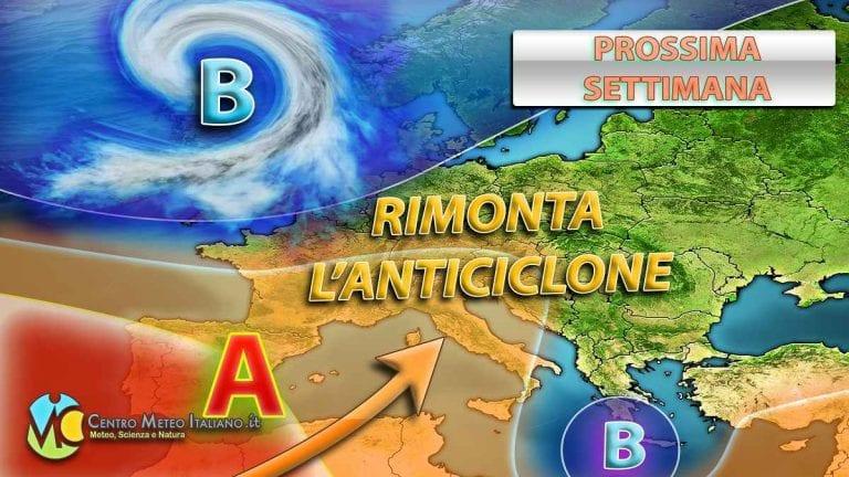 METEO ITALIA – Torna l'ANTICICLONE, ma ci sarà ancora spazio per PIOGGE e TEMPORALI; i dettagli