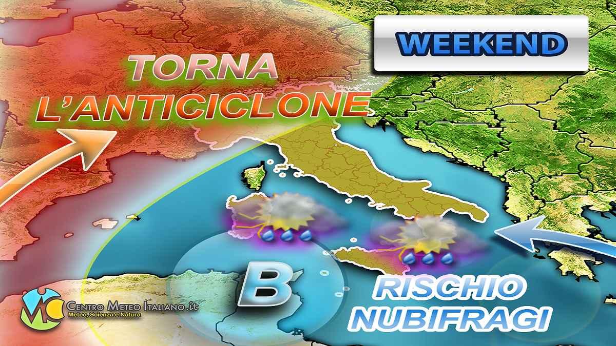 Previsioni meteo per il weekend