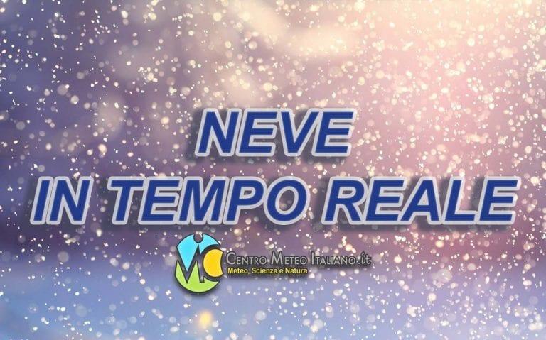METEO – COPIOSE nevicate in atto in APPENNINO, ecco dove si stanno verificando