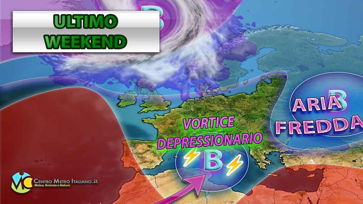 Meteo, weekend con il maltempo autunnale in gran parte dell'Italia.