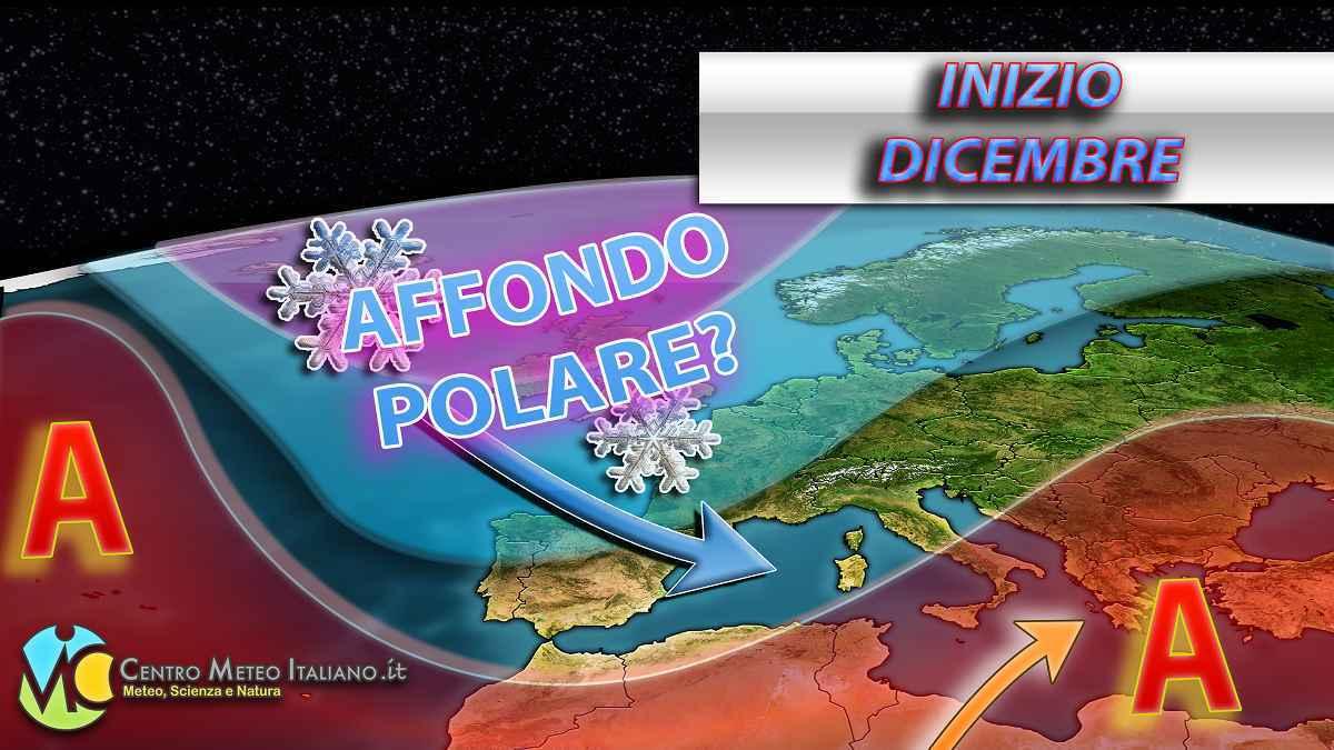Meteo Dicembre, al via la stagione invernale con le perturbazioni in arrivo in Italia.