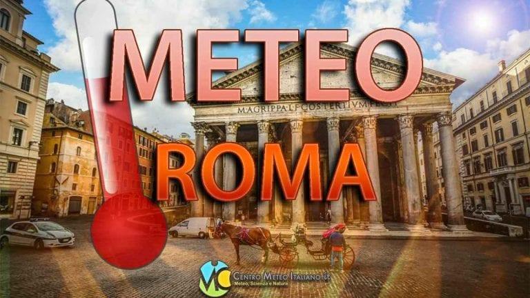 METEO ROMA: Prosegue il BEL TEMPO sulla Capitale con TEMPERATURE in ripresa, ecco le previsioni fino al WEEKEND