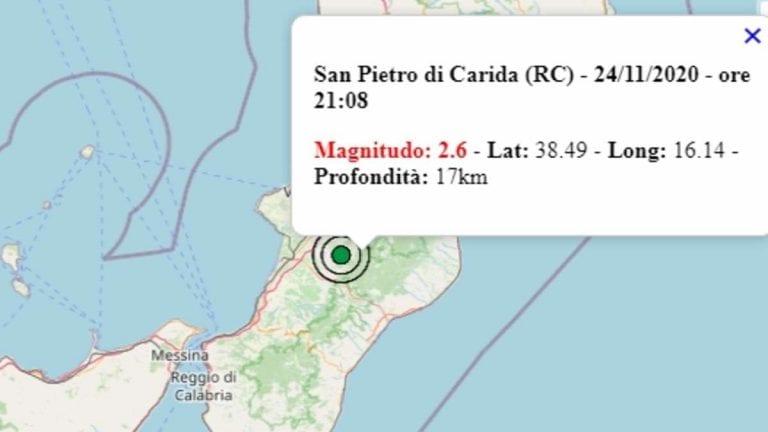 Terremoto in Calabria oggi, martedì 24 novembre 2020: scossa M 2.6 in provincia di Reggio Calabria – Dati Ingv