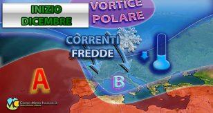 Avvio di dicembre con correnti più fredde e maltempo?
