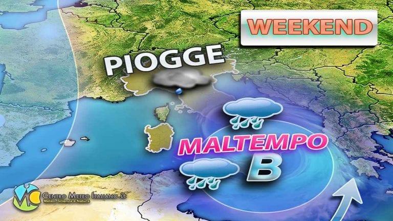 METEO: MALTEMPO in arrivo al sud ITALIA durante il WEEKEND, previsti NUBIFRAGI e forti raffiche di vento