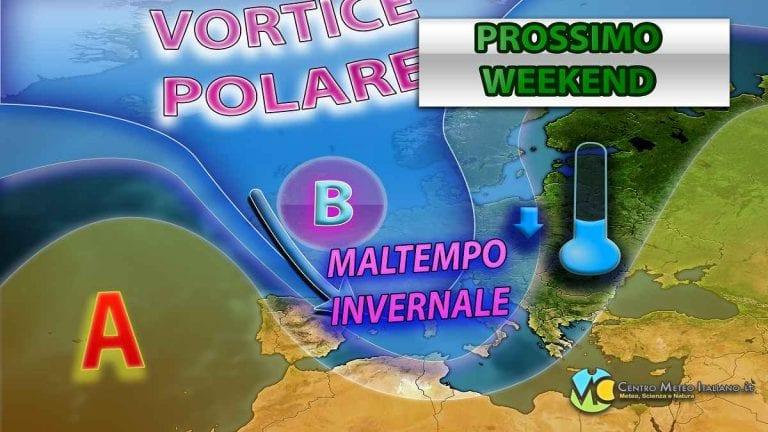 METEO – Primo WEEKEND di DICEMBRE con scenari già invernali in ITALIA, MALTEMPO ad oltranza