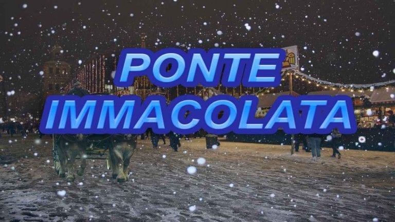 METEO IMMACOLATA – Periodo più freddo e nevoso in vista, tutti i dettagli nella TENDENZA