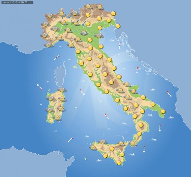 PREVISIONI METEO domani 14 Dicembre 2020: Anticiclone in Italia e con esso bel tempo da nord a sud