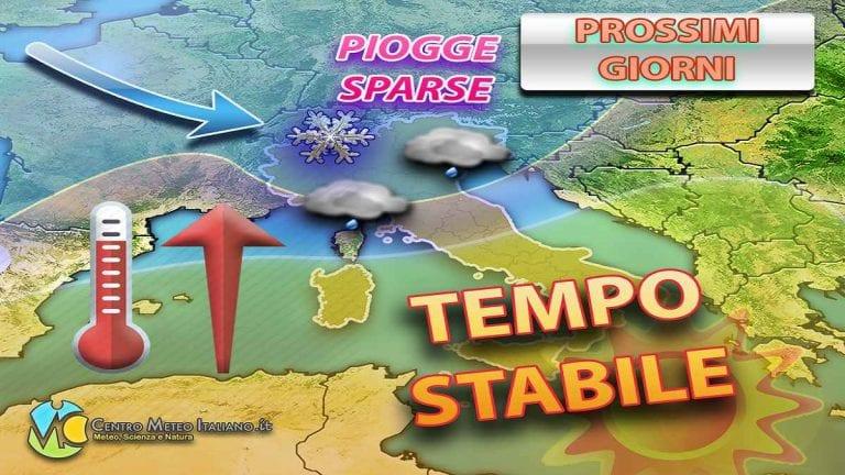 METEO ITALIA: blanda perturbazione in arrivo, poi anticiclone fino a Natale?
