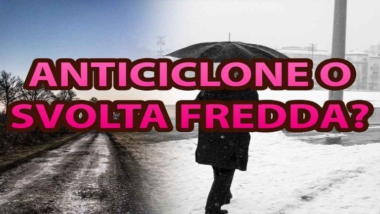 METEO – Colpo di coda dell'INVERNO con novità in arrivo sull'ITALIA proprio a NATALE