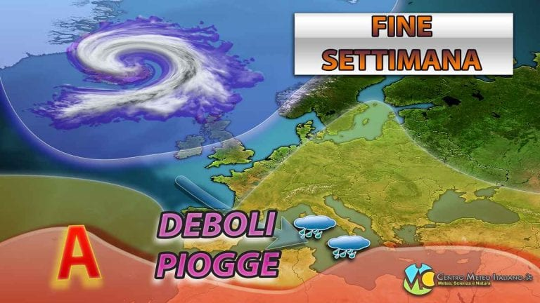 METEO – WEEKEND condizionato dalle correnti PERTURBATE, torna il MALTEMPO in ITALIA, ecco dove